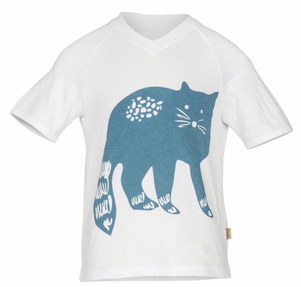 Bilde av t-skjorte theo katt blå blues