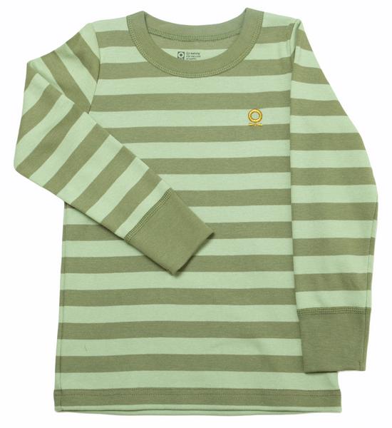 Bilde av genser øko grønn striper