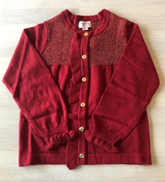 Bilde av cardigan mini roots red